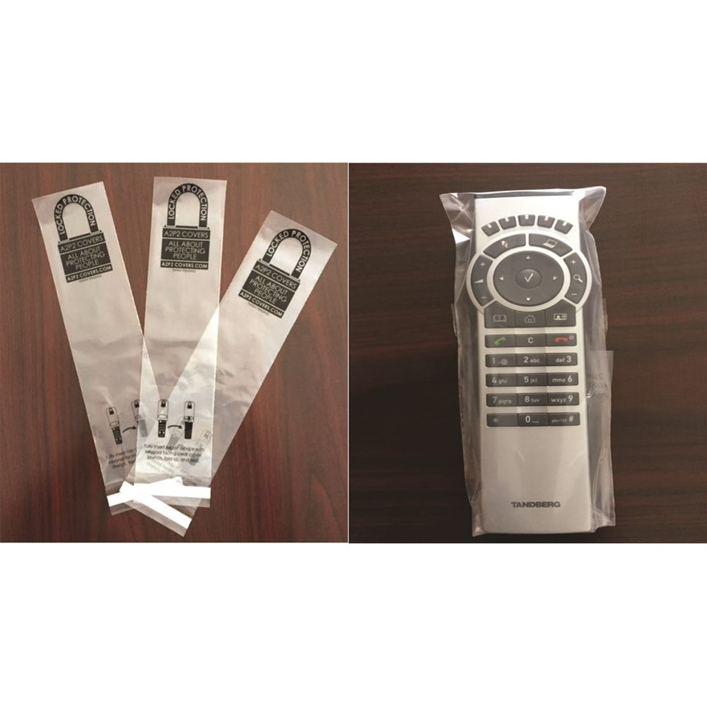 Disposable TV Remote Control Sanitary Covers, Clear
